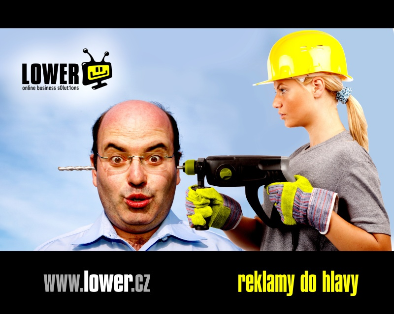 LOWER reklamy do hlavy